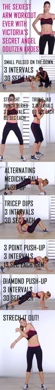 Get sexy lean arms with this amazing workout. Do it now!