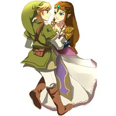 Link and Zelda ❤ liked on Polyvore
