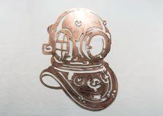 Copper Dive Helmet by ConverseCustomMetal on Etsy
