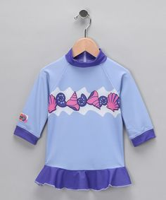Take a look at this Purple Shell Rashguard - Toddler & Girls by Tumblegum Sun Wear on #zulily today!