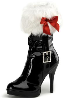 hot boots | Sexy Santa Boots - Sexy Mrs Claus Christmas Boots
