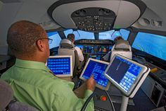 Boeing 787 Simuator with Instructor Seat