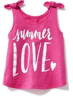 Graphic Tie-Shoulder Swing Tank for Toddler