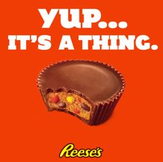 """Reese's Pieces Reese's Cups will be available in standard and """"Big Cup"""" sizes starting mid-July.   Reese's Cups Stuffed With Reese's Pieces Are Now A Thing That Exists"""