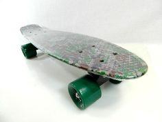 "Camo Penny Style 22.5"" x 6"" Plastic Banana Board Cruiser Skateboard Army Green #Rekon"