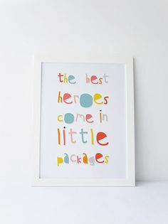 Cute Dinky Mix pink multicolour The Best Heroes Come In little packages quote by…