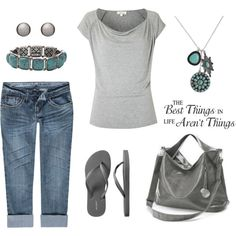 Gray Casual by leisa-708 on Polyvore featuring Vanilla Star, Old Navy, MBaoBao, FOSSIL and WALL