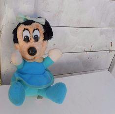 "Vintage Walt DISNEY 7"" MINNIE MOUSE Plush Stuffed Animal blue Dress Miniature #WaltDisney Disney Toys, Walt Disney, Disney Stuffed Animals, Movie Characters, Fictional Characters, Blue Dresses, Minnie Mouse, Plush, Miniatures"