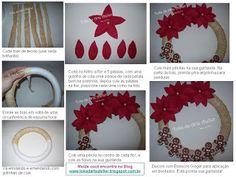 Toka da Arte Atelier: Guirlanda Ginger! Pap  Molde da flor no Blog!