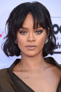 """Which Bob Haircut Is Right For YOU? #refinery29  http://www.refinery29.com/bob-lob-haircuts#slide-7  """"This is for people who are ready for a big cut,"""" Citrone says, noting that the best way to wear it is with the waves tucked behind one ear. Want more proof that it can work for you? Rihanna, Daria Werbowy, Ciara, Rebecca Hall, January Jones, and Scarlett Johansson have all rocked this cut and offer great inspiration for how ..."""