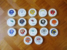 17 Vintage 1970's Gatorade Bottle Caps NFL Football Helmets #Gatorade