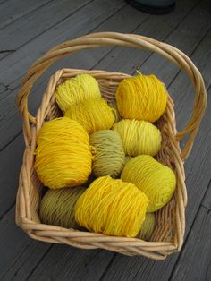 wool yarn dyed with golden rod