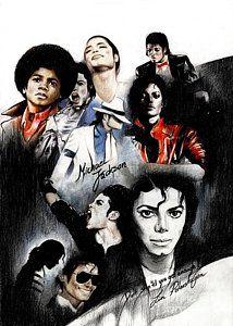 Michael Jackson Drawing - Michael Jackson - King Of Pop by Lin Petershagen