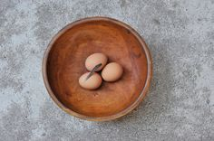 Vintage Rustic Modern Minimal Zen Wooden Bowl by TheWildPlum, $35.00