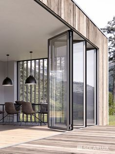 Idea, techniques, also overview in pursuance of receiving the greatest outcome and creating the optimum utilization of french door living room Folding Patio Doors, Folding Walls, Bifold Glass Doors, Folding Glass Patio Doors, Sliding Doors, Plans Architecture, French Doors Patio, Aluminium Doors, Unique Doors