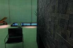 Tile on photo: Refin - Arketipo Mosaico  Modulo Nero. For more tile info please log onto our website www.arabuild.ae
