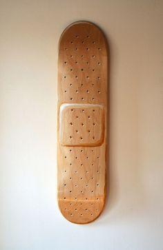 MAKE | Hand-painted Band-aid skateboard