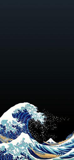 Waves Wallpaper, Sunset Wallpaper, Anime Scenery Wallpaper, Aesthetic Pastel Wallpaper, Dark Wallpaper, Wallpaper Backgrounds, Japanese Artwork, Japanese Tattoo Art, Graphic Wallpaper