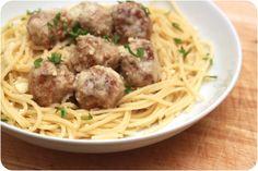 pozniak's | blog: Meatballs with Garlic & Butter Spaghetti