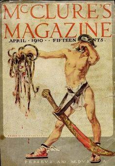 """Perseus and Medusa"" April 1910 McClure's Magazine / Frank Leyendecker illustration Perseus Und Medusa, Vintage Posters, Vintage Art, Art Posters, Jc Leyendecker, Homo, Graphisches Design, Beauty In Art, American Illustration"