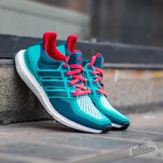 adidas Ultra Boost M Green Mineral Shock Red