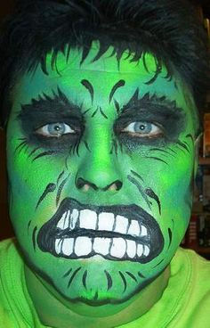 Black Spiderman Face Paint And i dig this hulk face paint Hulk Face Painting, Face Painting Images, Body Painting, Face Paintings, Spiderman Face, Black Spiderman, Halloween Make Up, Halloween Face Makeup, Halloween Costumes