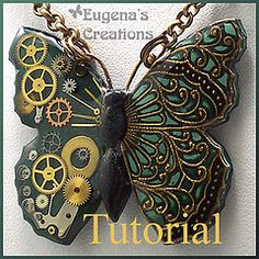 polymer clay steampunk and filigree butterfly tutorial - Eugena 777 is incredibly talented and there's an awful lot of gorgeous stuff on this site