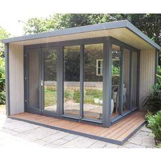 BuyCrane 3 x 3.6m The Hub Outdoor Left-Hand Corner Studio, FSC-Certified (Scandinavian Redwood) Online at johnlewis.com