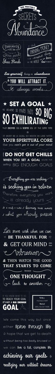 Abundance! #secrets #goals