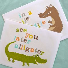 See you later, alligator art prints
