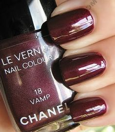 Archives - Chanel Vamp and Metallic Vamp Swatch Chanel Vamp Nail Polish. I had the generic version but I lusted after this in the department store. I had the generic version but I lusted after this in the department store. Chanel Nail Polish, Chanel Nails, Chanel Makeup, Love Nails, Pretty Nails, Fun Nails, Ginnifer Goodwin, Essie, Swatch