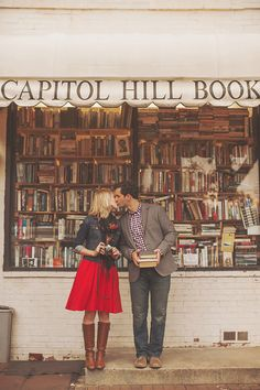 Love and a Bookstore. Just One Frame. - Washington DC Wedding ...