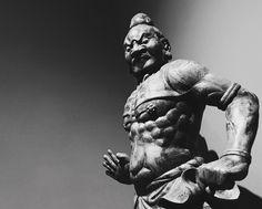Vajra warrior temple guardian mid-14th century Japan. #artsmia #japanese #buddhism #blackandwhitephotography #musecam #museum #vajra #captureminnesota