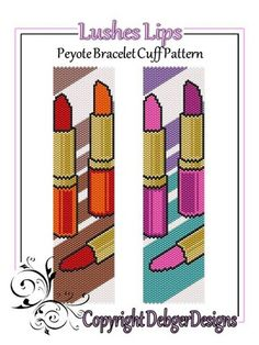 Lushes+Lips+-+Beaded+Peyote+Bracelet+Cuff+Pattern
