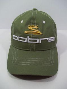 Cobra S3 Golf Cap/Hat by COBRA  - GREEN - Slide Adjustable Back #Cobra #BaseballStyleCapHat