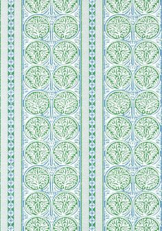 FAIR ISLE, Green and Blue, T88732, Collection Trade Routes from Thibaut