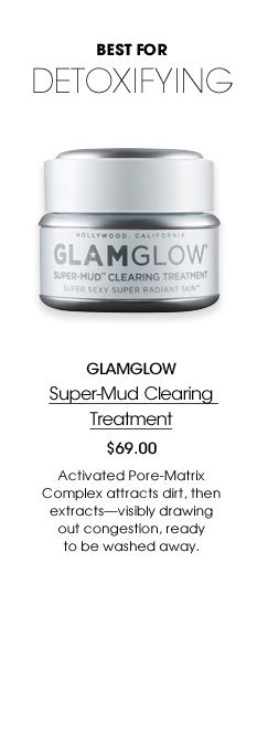 Glam Glow: This stuff is AMAZING. It sucks all the oil out of your face.. you can see it working!!!