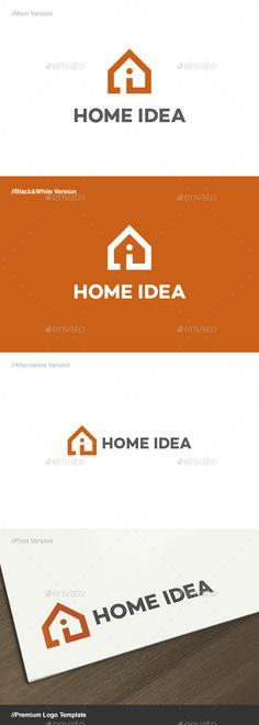 Home Idea Logo  — EPS Template #modern #house #logo #identity #artificial •…