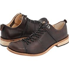 Tights and a skirt will fancy-up these masculine oxfords. Timberland, Gavie.