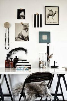 home office black & white