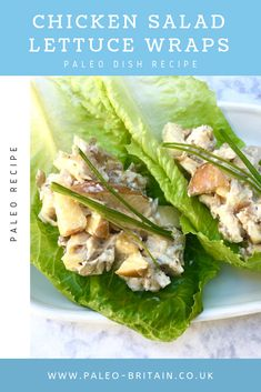 Chicken Salad Lettuce Wraps  #Paleo #food #recipe #keto #diet #ChickenSalad