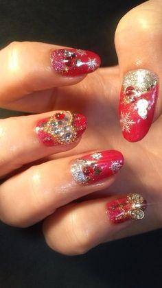 Japanese Christmas Nails 2012
