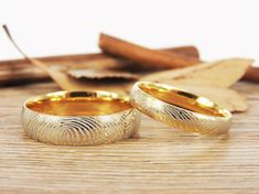 Actual Fingerprint Rings, Personalized Wedding #jewelry #ring @EtsyMktgTool #weddings #weddingband #titaniumrings #weddingring #gift