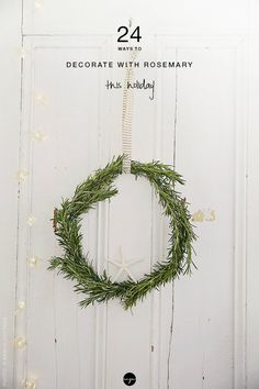 24 ways to decorate with rosemary this holiday   My Paradissi