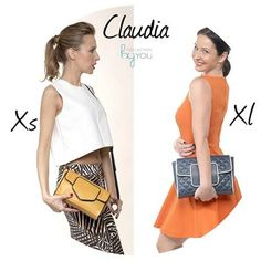 Nuestro ''Claudia'' tiene 2 tamaños! Ahora el problema es decidirse cual nos gusta mas. Tu diseñas tu bolso en CollectionByYou