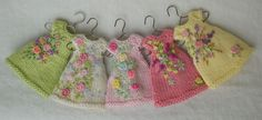Everlasting Garden Dresses 2013 by Cindy Rice Designs (teeny-tiny knitted and embroidered doll dresses)
