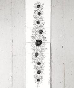 sunflower band tattoo art by Kannchy Sunflower tattoo – Fashion Tattoos Pretty Tattoos, Cute Tattoos, Beautiful Tattoos, Body Art Tattoos, Tattoo Drawings, Small Tattoos, Tatoos, Black Tattoos, Owl Tattoos