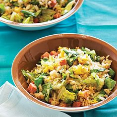 Lettuce Fried Rice with Easter Ham and Eggs | MyRecipes.com