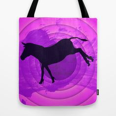 Who Says Donkeys Don't Need Shoes?! - Funny Conceptual Art Tote Bag by Denis Marsili - $22.00