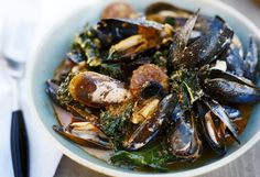 Portuguese-Style Mussels #oprah